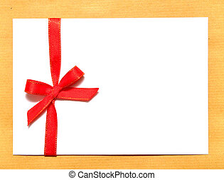 holiday envelope - white envelope with brown background for...