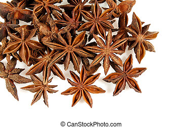 Badian - Star aniseed or badiane - popular spice isolated on...