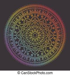 Beautiful ethnic mandala with a floral pattern - Beautiful...