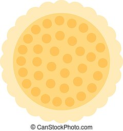 Chip cookie icon for food apps and websites