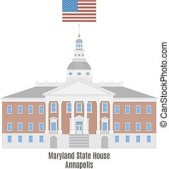 Maryland State House, Annapolis - Maryland State House in...