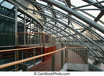 Futuristic interior architecture - Super modern skyscraper...