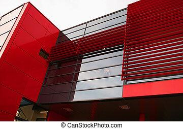 Red modern building - Super modern skyscraper building...