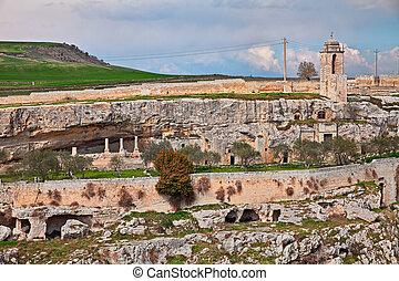Gravina in Puglia, Bari, Italy: the ancient rock church...