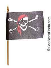 Pirate flag - Toy Pirate flag studio cutout