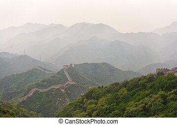 The Great Wall of China at Badaling bad weather