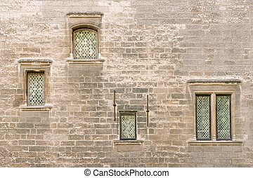 Avignon Papal Palace - Detail of Papal Palace facade in...