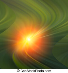 star light effect - Radial rays and star light effect