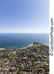 Shoreline Aerial Malibu California - Aerial view of...