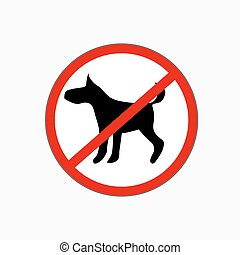 No dog allowed vector sign - Circle prohibited sign for no...