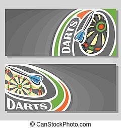 Vector banners for Darts game