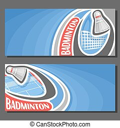 Vector banners for Badminton