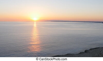 Beautiful sea at sunset - The sea at sunset in Cyprus