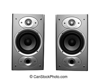 Home stereo speakers - two stereo home theater speakers...