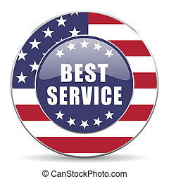Best service usa design web american round internet icon...