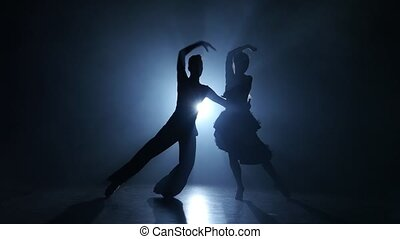 Emotional and graceful jive dance performed by champions,...