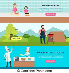 Cookery People Horizontal Banners - Cookery people...