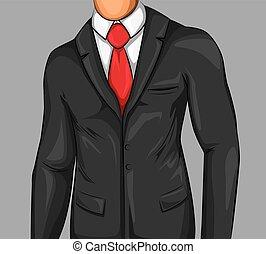 Comic Attractive Business Man