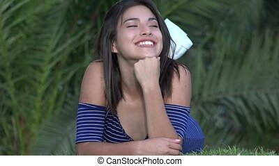 Cute Happy Teen Girl