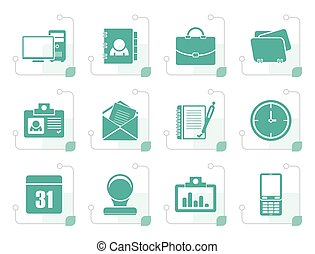 Stylized Web Applications, Business and Office icons, Universal icons