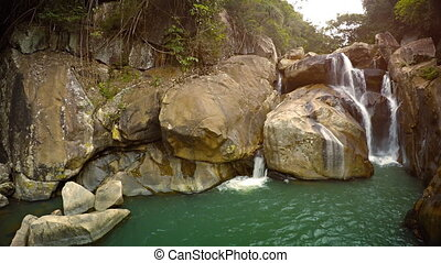 Ban Ho Waterfall, a natural, multi-tiered cascade near Nha...