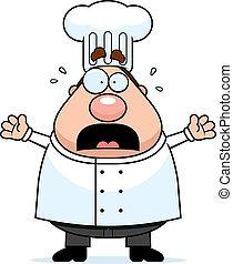 assustado, cozinheiro