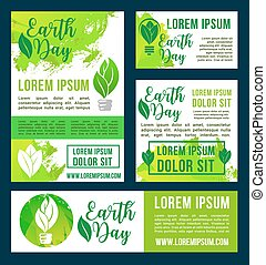 Earth Day vector green nature environment design - Earth Day...