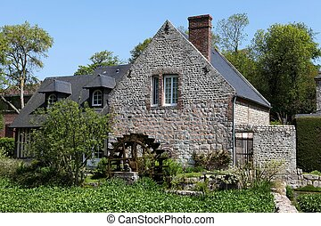 Watermill in Normandy, France