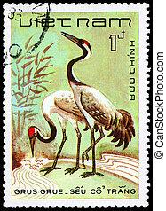 VIETNAM - CIRCA 1983 Cranes - VIETNAM - CIRCA 1983: A Stamp...