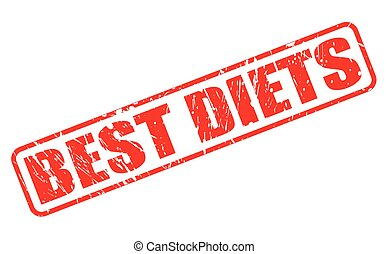 BEST DIETS red stamp text on white
