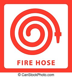 Fire hose icon vector, solid logo illustration
