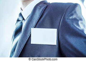 torso as a successful Manager with a blank badge