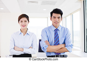 young Business people standing in office