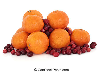 Tangerine and Cranberry Fruit