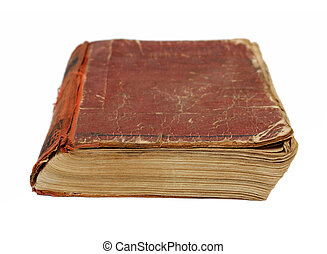 old battered book