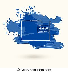 color ink spots, white background