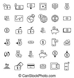 Set with money icons - Simple icon set related to Money....
