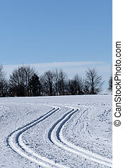 winter sports cross-country skiing, a symbol of...