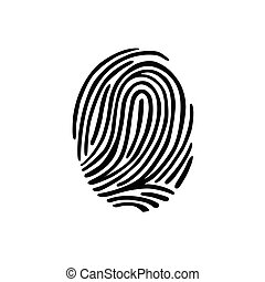 Thumb print fingerprint vector illustration eps 10