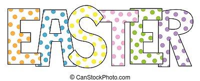 Polkadot Easter Letters