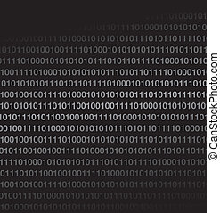 binary code - black binary code background