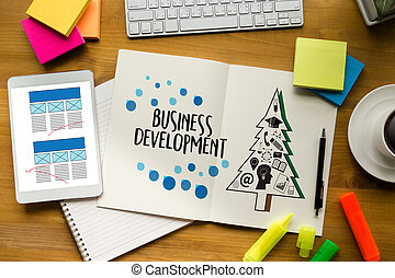 Business development   businessman and businesswoman Marketing Business To Business