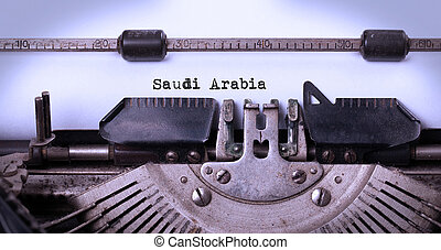 Old typewriter - Saudi Arabia - Inscription made by vintage...