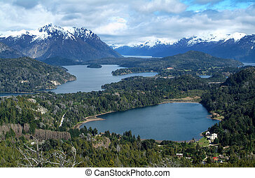 View on the lake Nahuel Huapi near Bariloche, Argentina,...
