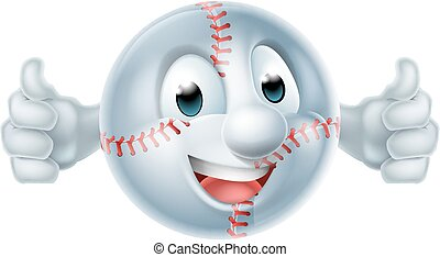 Baseball Softball Ball Man Character