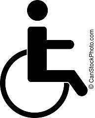 Disabled Handicap Icon - Illustration of wheelchair icon on...