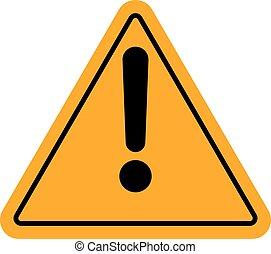 Danger warning attention sign - Hazard warning attention...