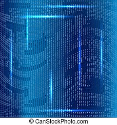 Background with binary code - Binary code on blue background