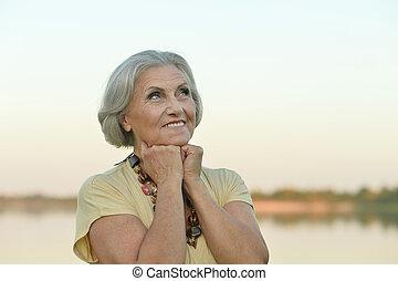 Beautiful happy elderly woman - Portrait of a beautiful...