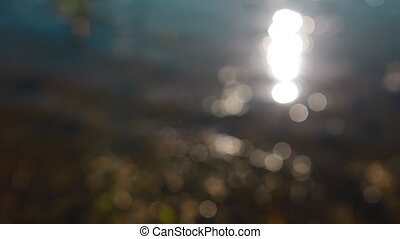Backgraound of sparkles on the water - Backgraound of...